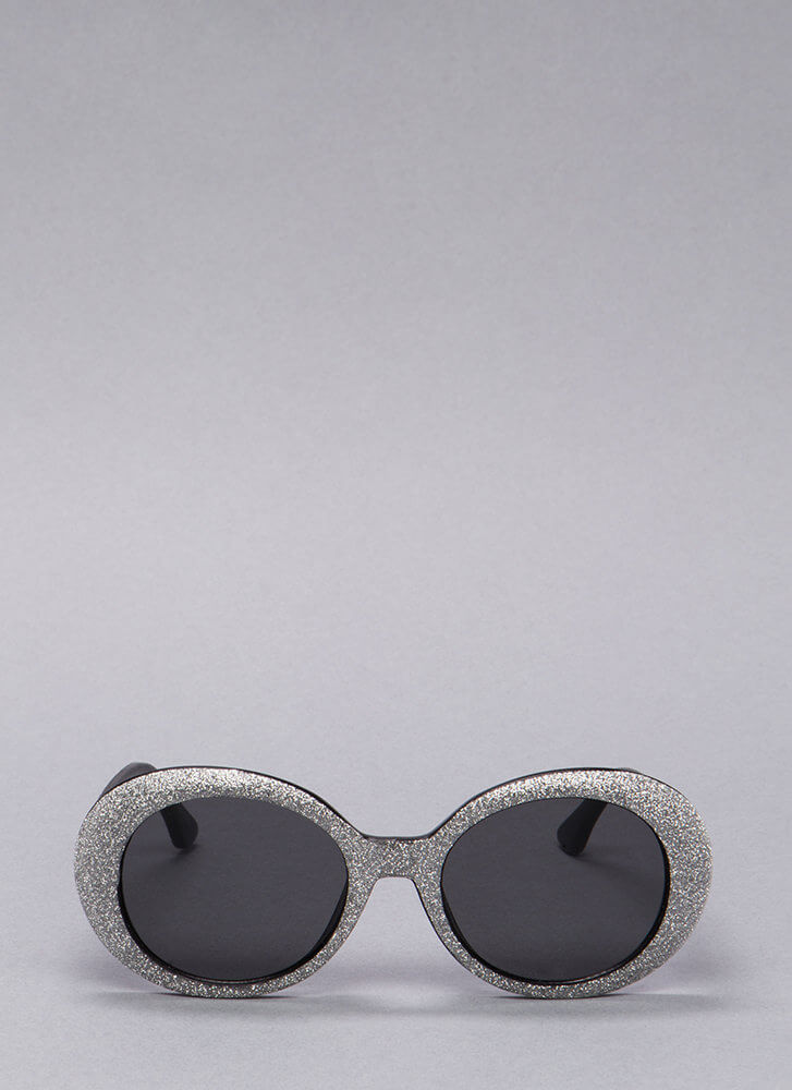 My Own Little Bubble Glittery Sunglasses PEWTER