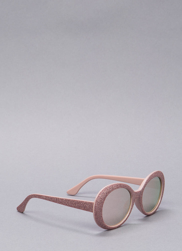 My Own Little Bubble Glittery Sunglasses PINK