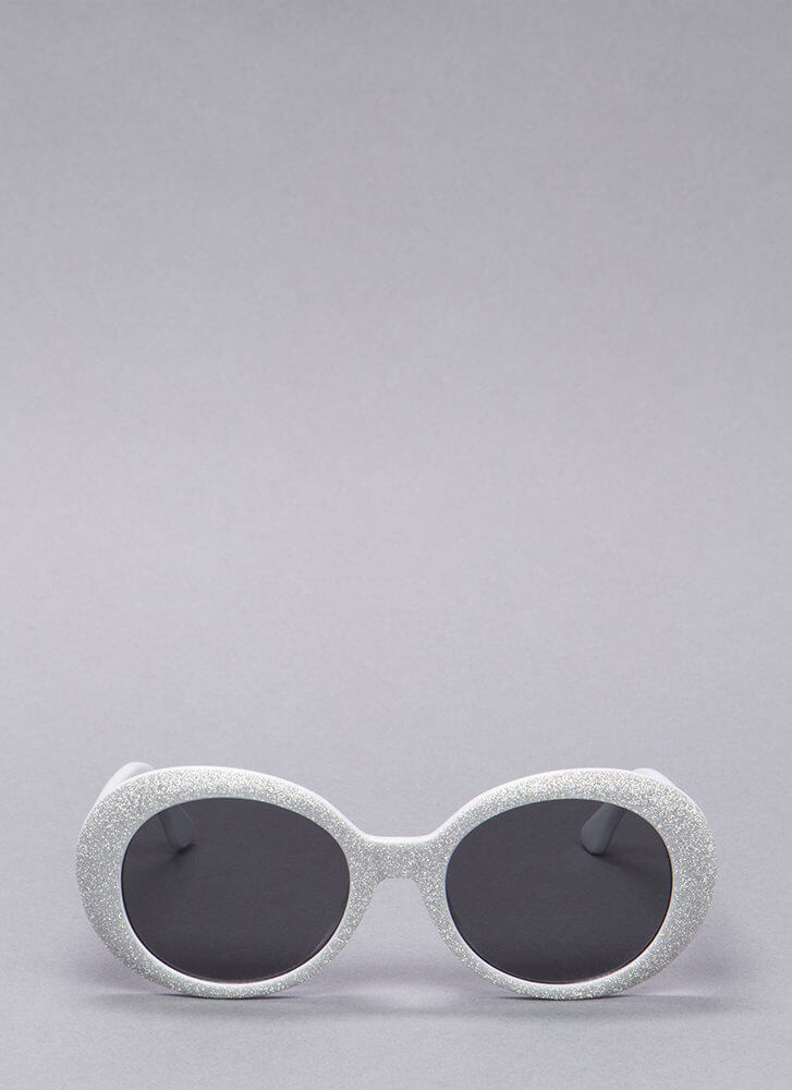 My Own Little Bubble Glittery Sunglasses SILVER (You Saved $4)