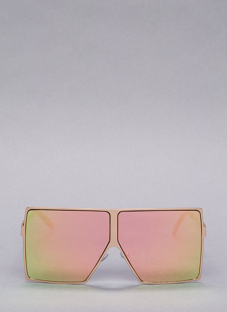 Be There Be Square Oversized Sunglasses MULTI