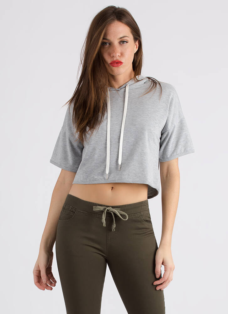 Cool And The Gang Cropped Hoodie HGREY