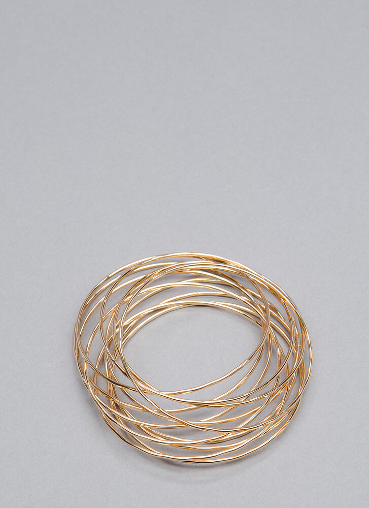 Together Or Apart Bangle Set GOLD