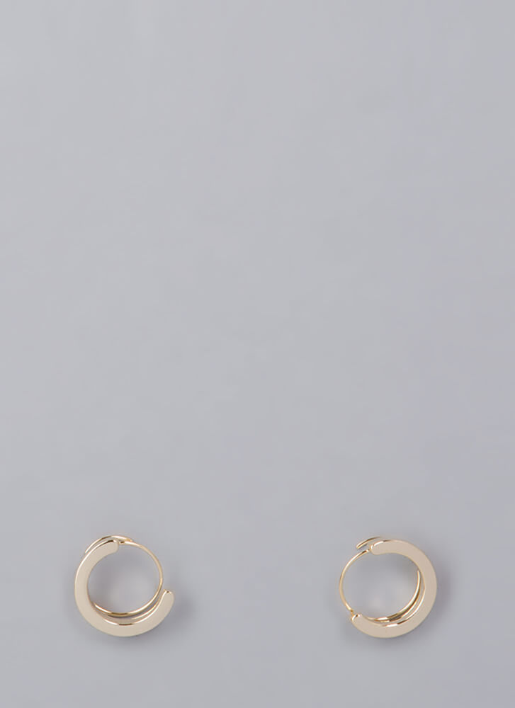 Wire Transfer Coiled Hoop Earrings GOLD