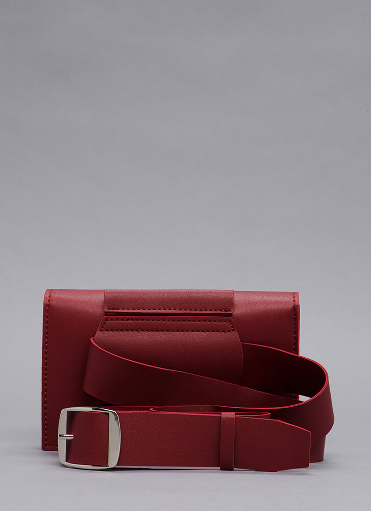 How You Wear It Fanny Pack Clutch BURGUNDY
