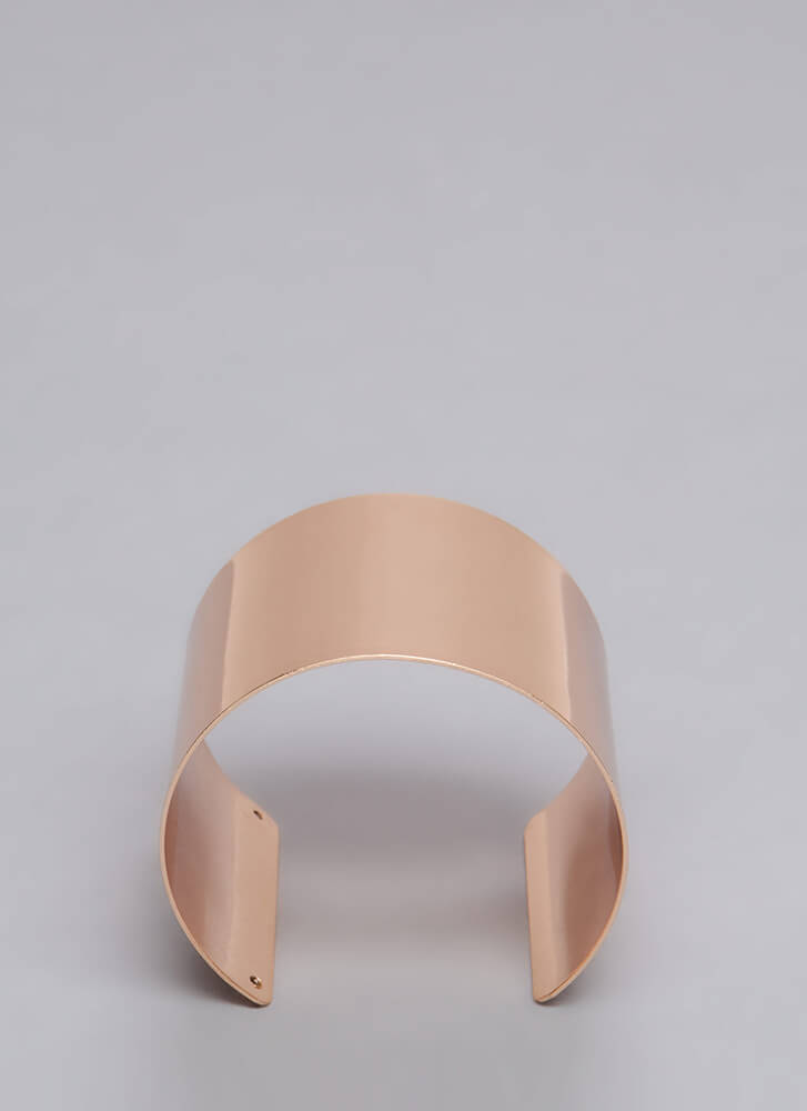 Brace Yourselves Extra Wide Cuff ROSEGOLD (Final Sale)