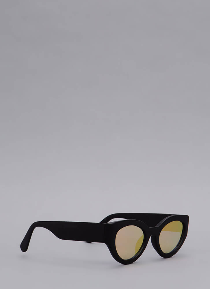 Eye See You Thick Frame Sunglasses BLACK