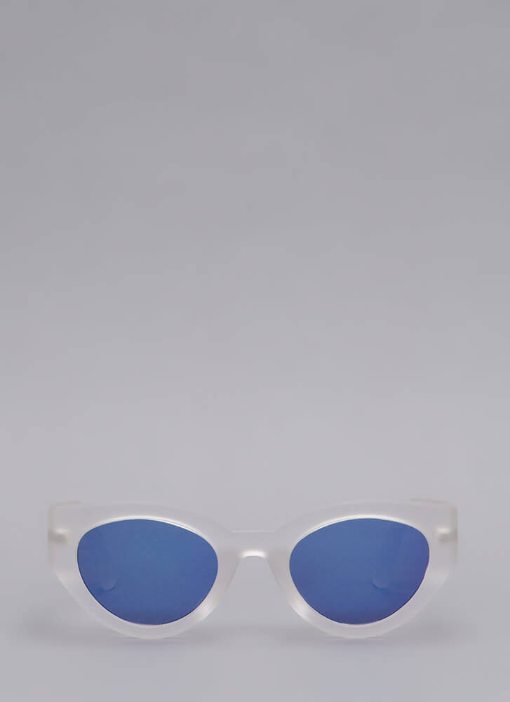Eye See You Thick Frame Sunglasses CLEAR