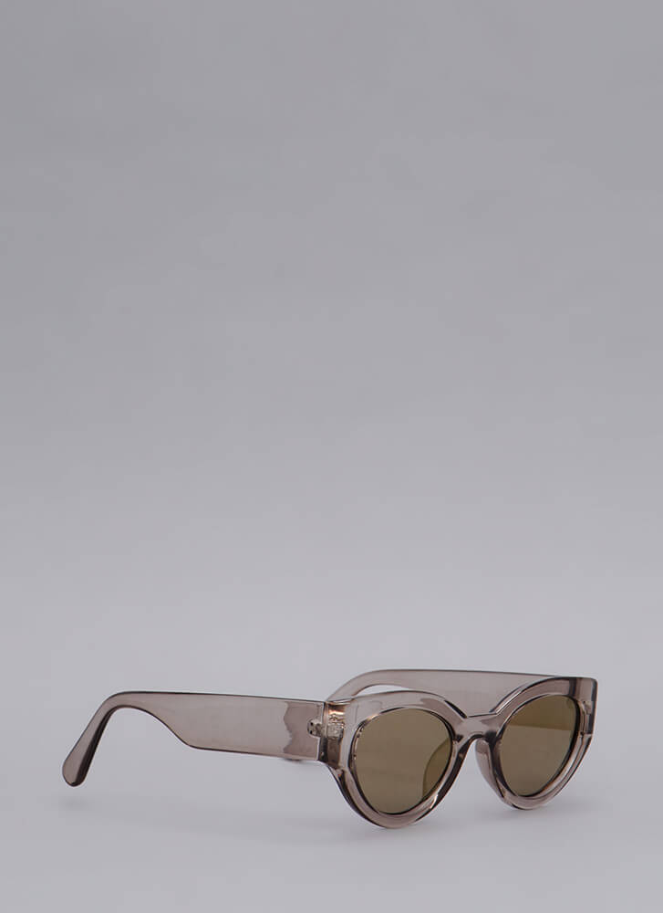 Eye See You Thick Frame Sunglasses GREY