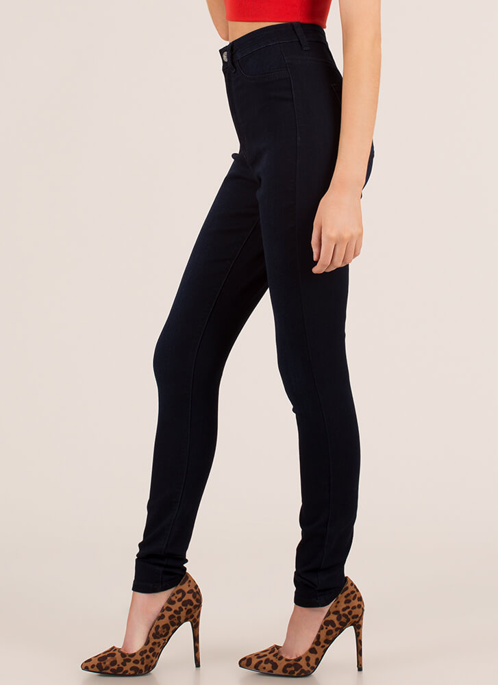 Every Day High-Waisted Skinny Jeans DKBLUE