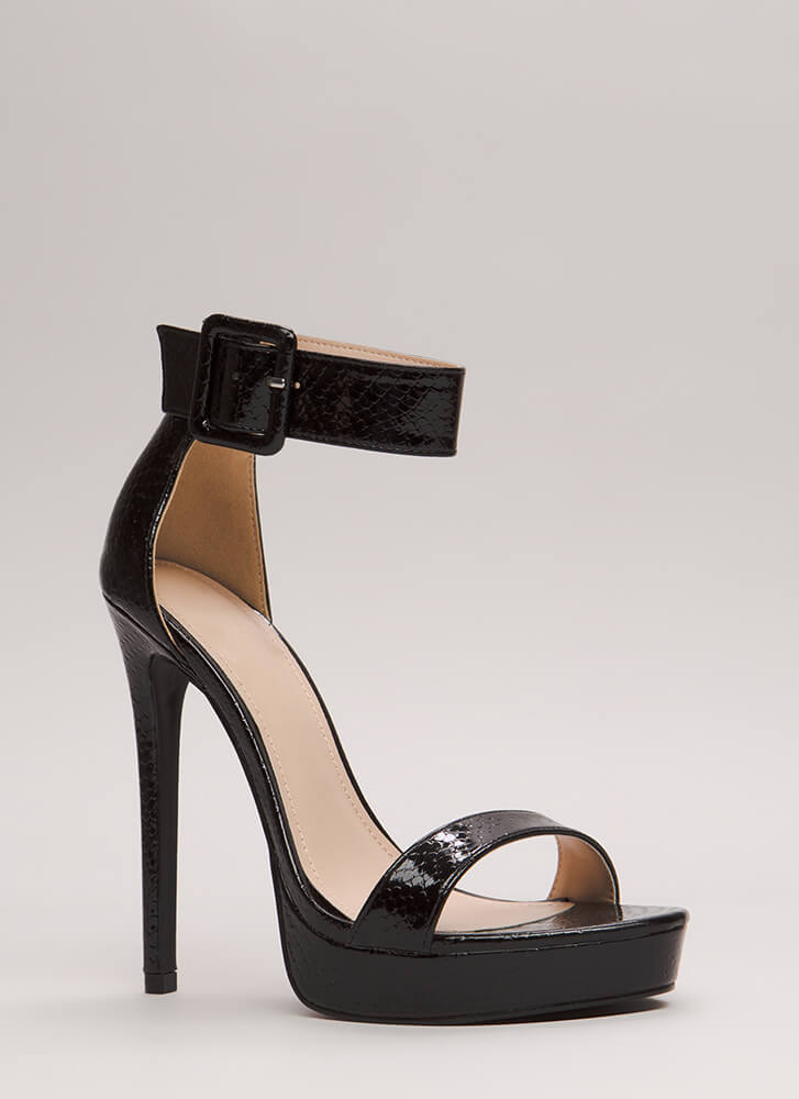 Scale These Heights Stiletto Platforms BLACK