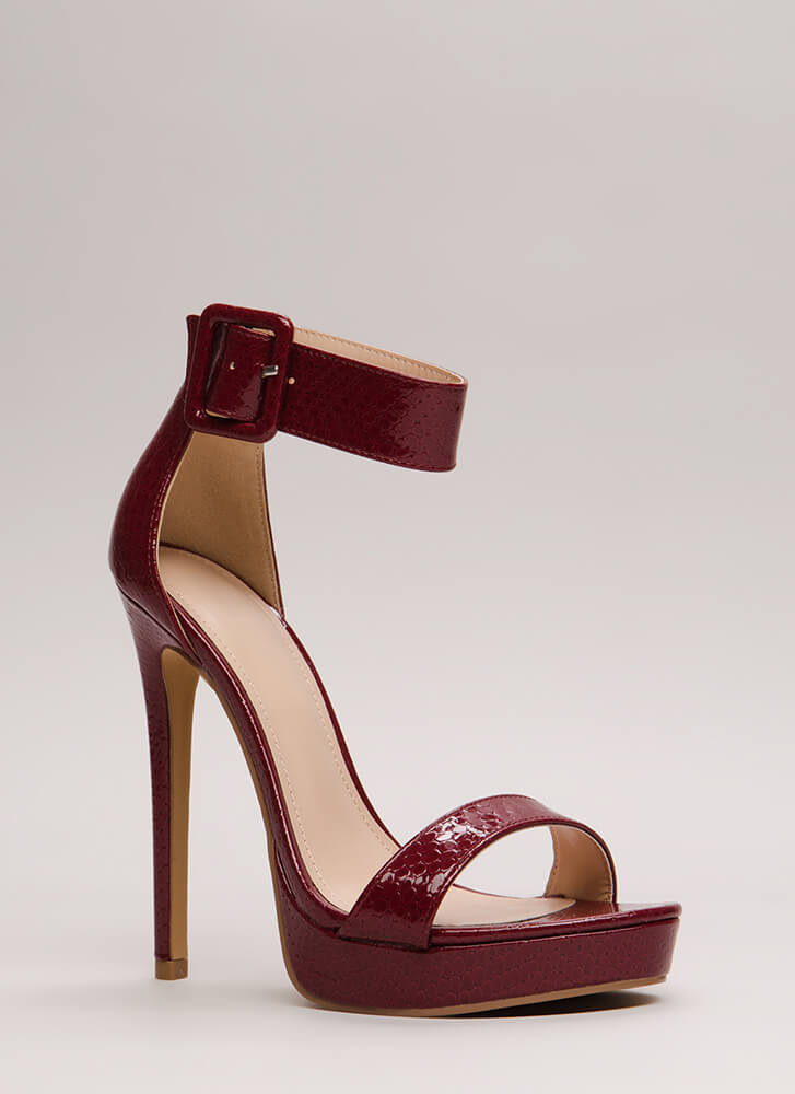 Scale These Heights Stiletto Platforms BURGUNDY