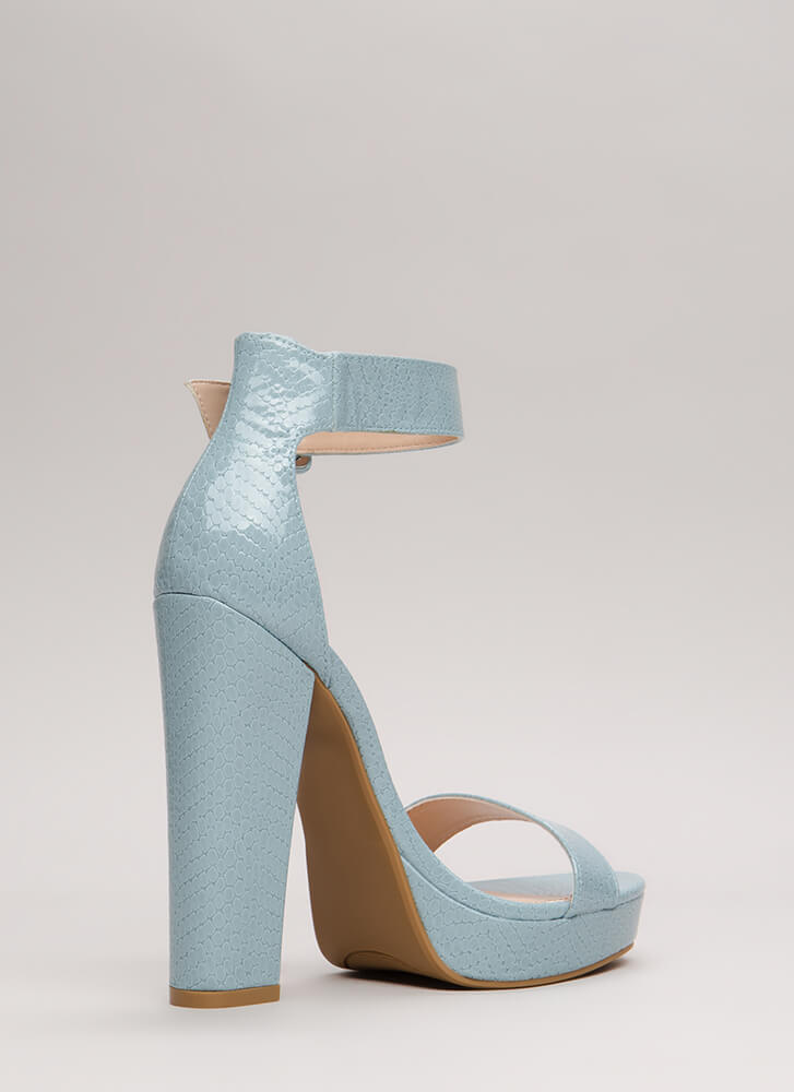 Scale These Heights Chunky Platforms LTBLUE