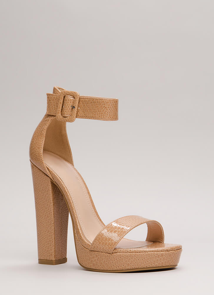 Scale These Heights Chunky Platforms NUDE