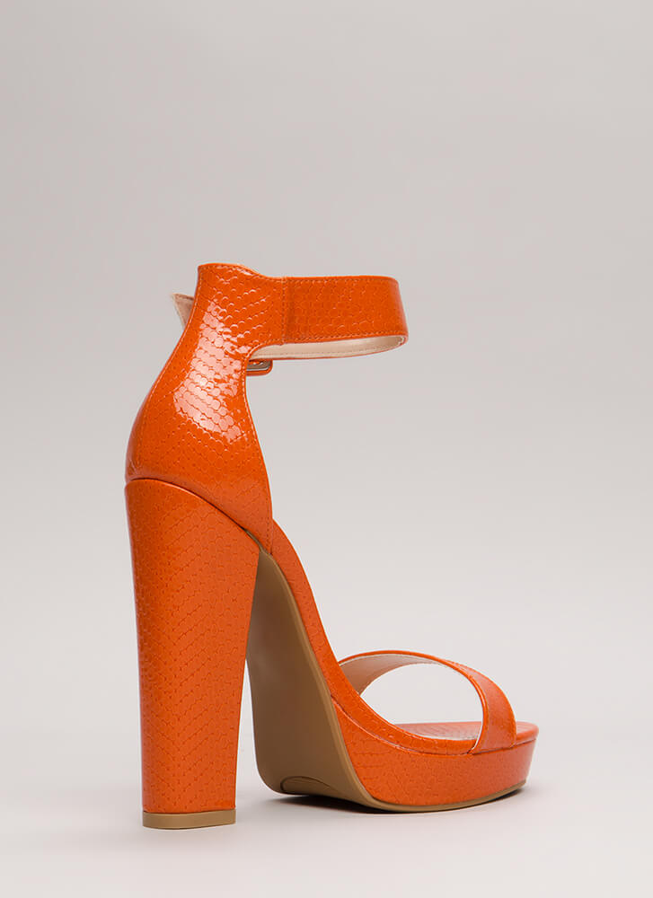 Scale These Heights Chunky Platforms ORANGE