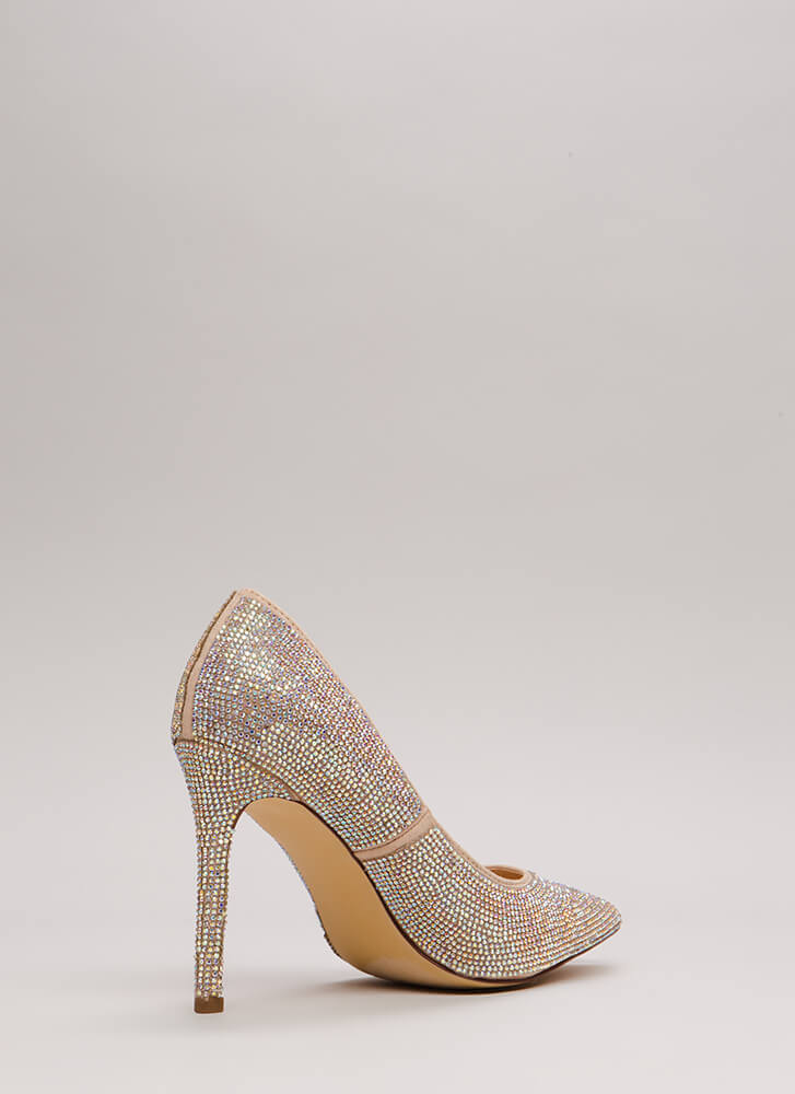So Much Sparkle Pointy Jeweled Pumps MULTI