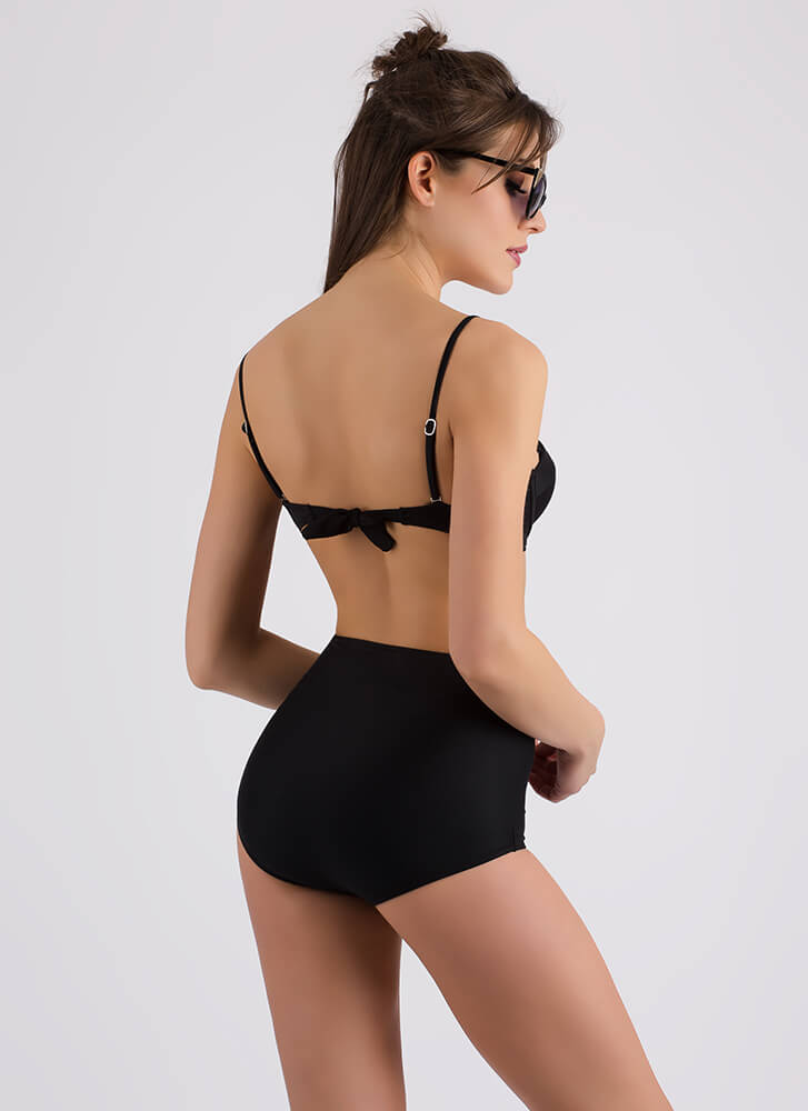 Beach Bunny High-Waisted Bikini Set BLACK (Final Sale)