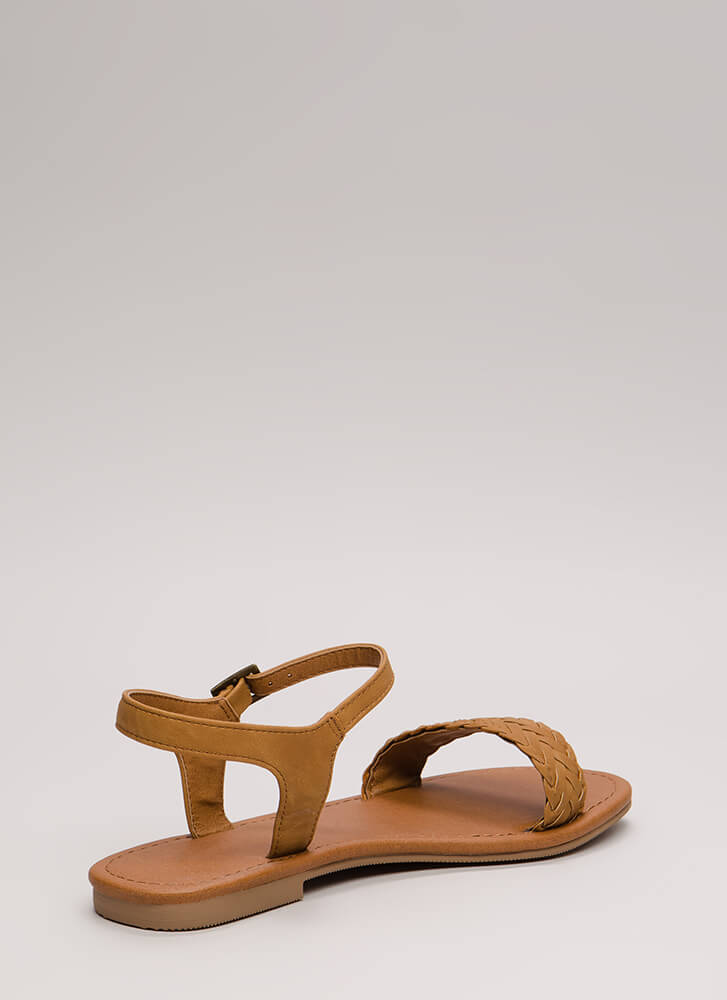 Weekend Life Woven Strap Sandals TAN