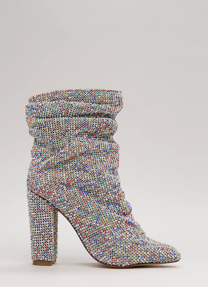 Jewels All Day Chunky Slouchy Booties MULTI (Final Sale)