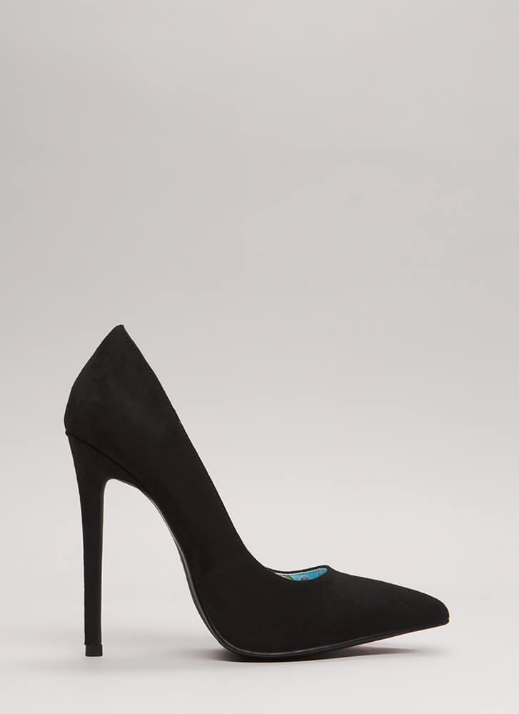 Classic Silhouette Pointy Stiletto Pumps BLACK