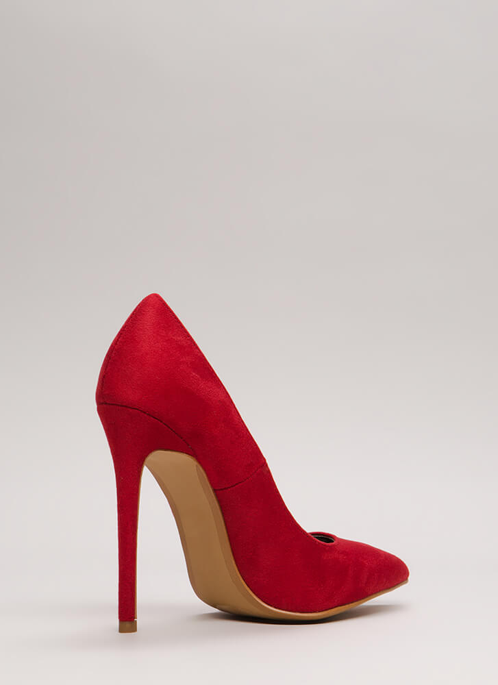 Classic Silhouette Pointy Stiletto Pumps RED