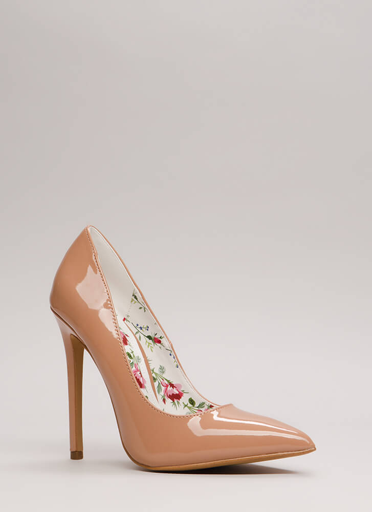 Classic Silhouette Pointy Stiletto Pumps TAUPE