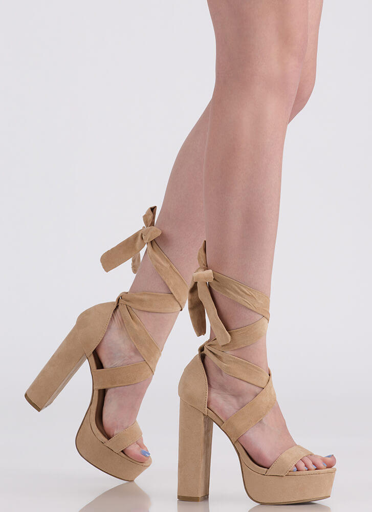 Tie It All Together Chunky Platforms NATURAL