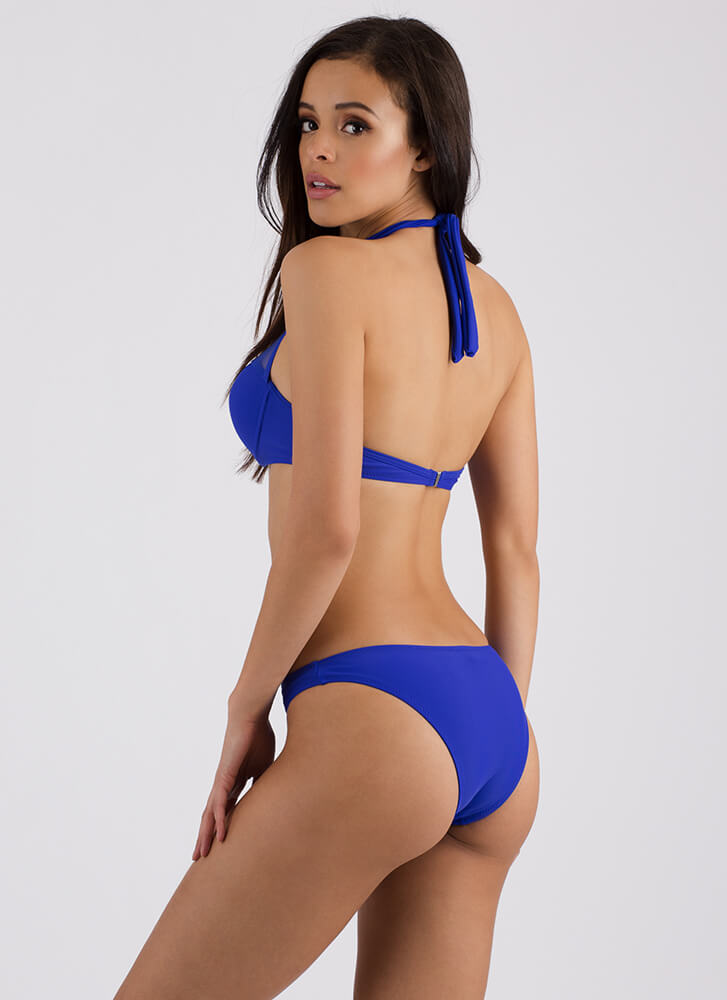 We Just Mesh Halter Bikini Set ROYAL