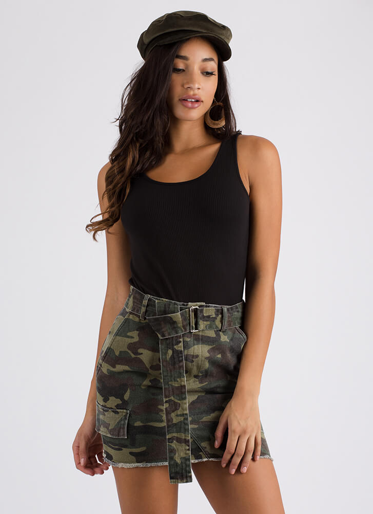 Come On Get Strappy Back Tank Top BLACK