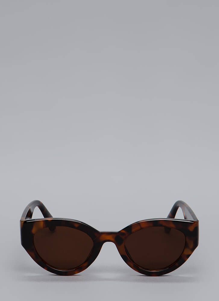 Thick As Thieves Solid Frame Sunglasses BROWN