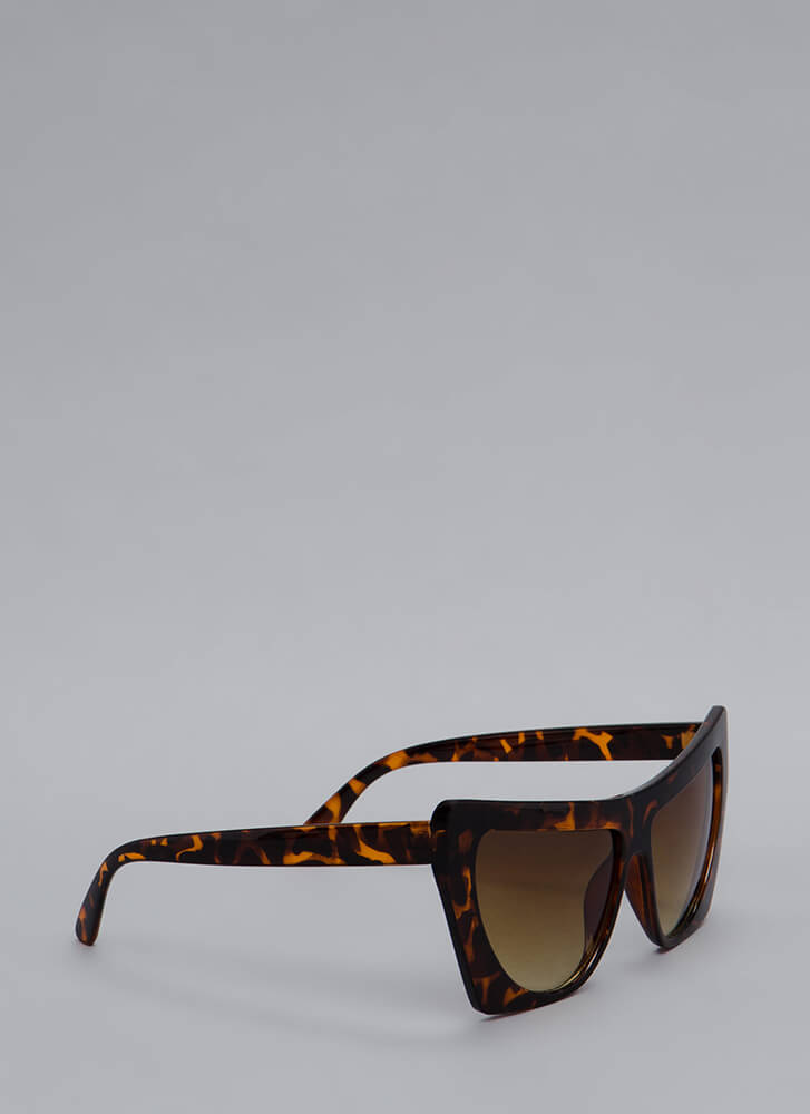 Square Off With Me Oversized Sunglasses TORTOISE