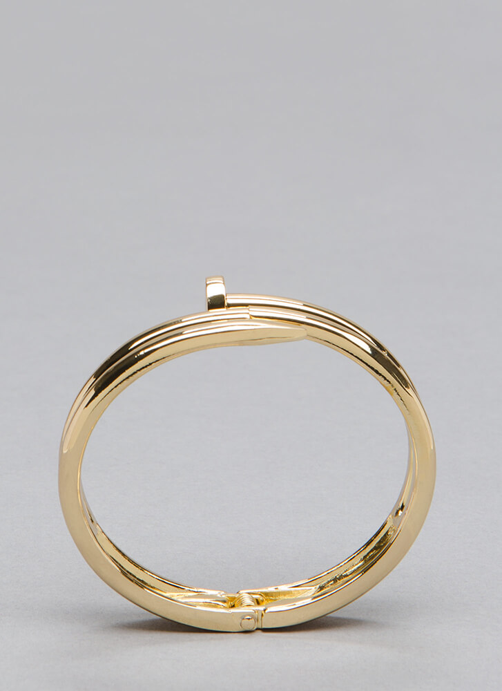 Completely Nailed It Hinged Bracelet GOLD