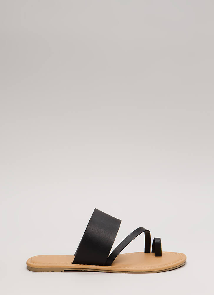 Ready To Road Trip Strappy Sandals BLACK