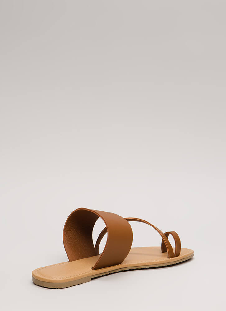 Ready To Road Trip Strappy Sandals WHISKY