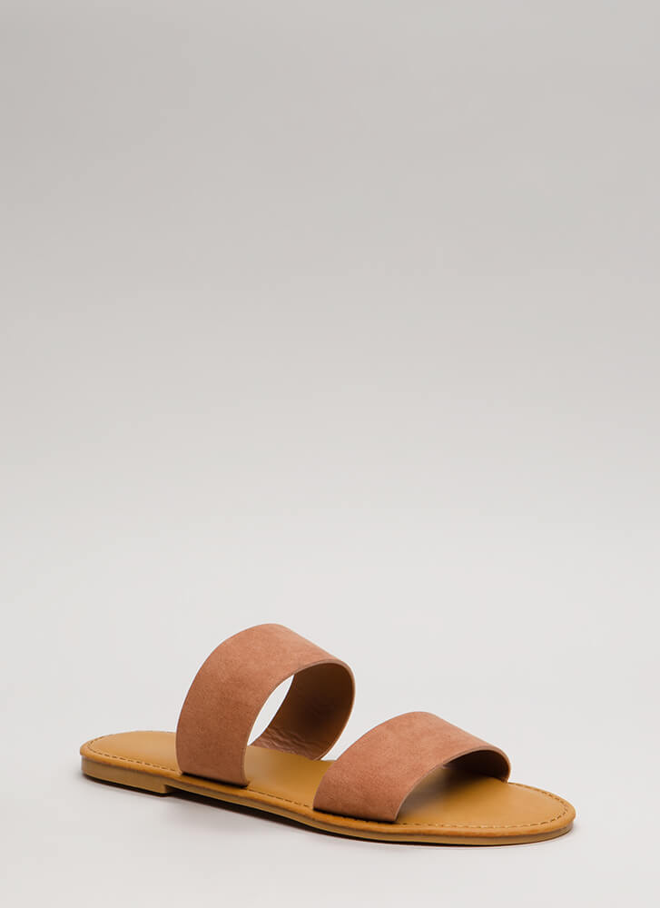 Easy Come Easy Go Faux Suede Sandals MOCHA