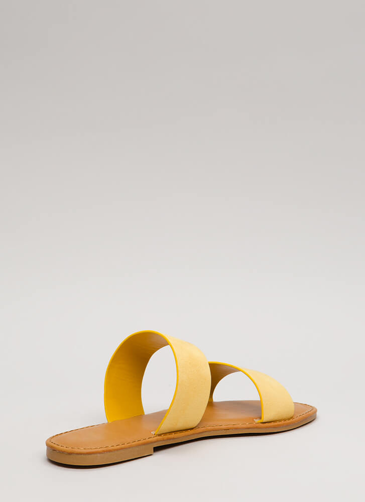 Easy Come Easy Go Faux Suede Sandals YELLOW
