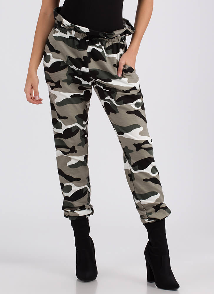 Rise In Rank Camo Sweatpant Joggers CAMOUFLAGE