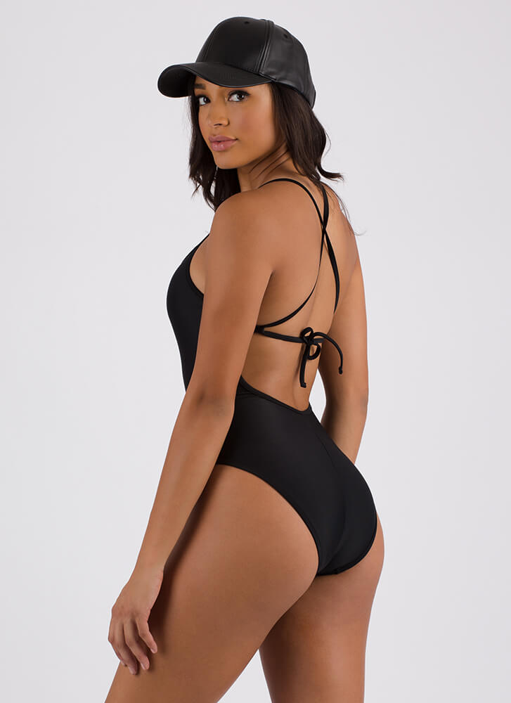 Summer Paradise One-Piece Swimsuit BLACK (Final Sale)