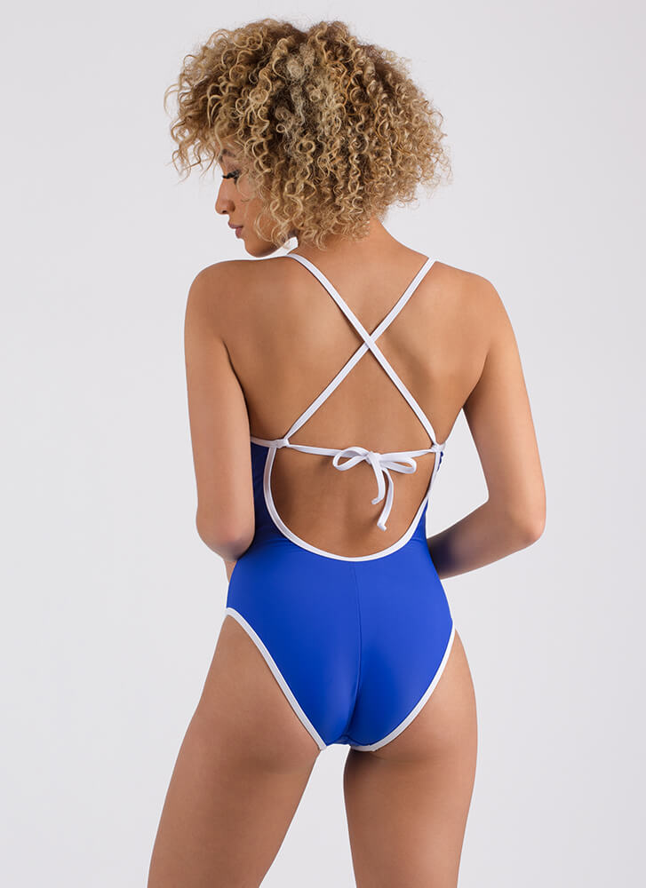 Summer Paradise One-Piece Swimsuit ROYAL (Final Sale)