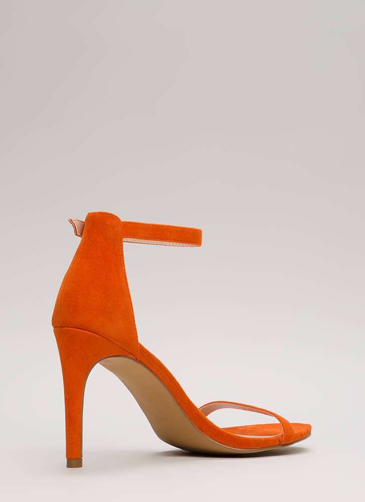 Skinny Dipping Ankle Strap Heels ORANGE