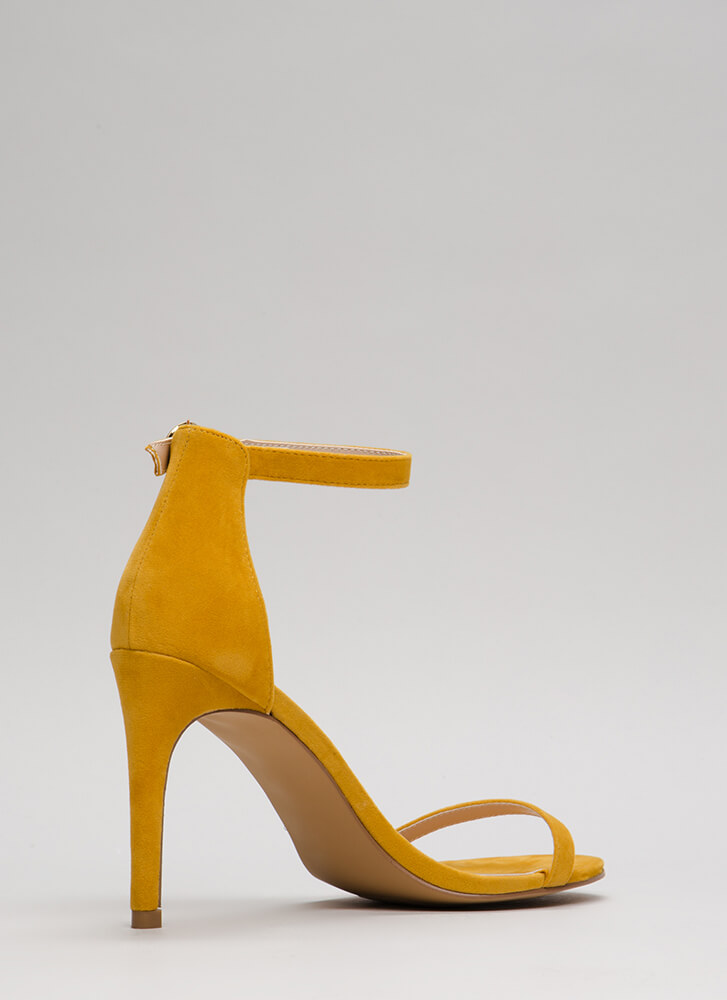 Skinny Dipping Ankle Strap Heels YELLOW