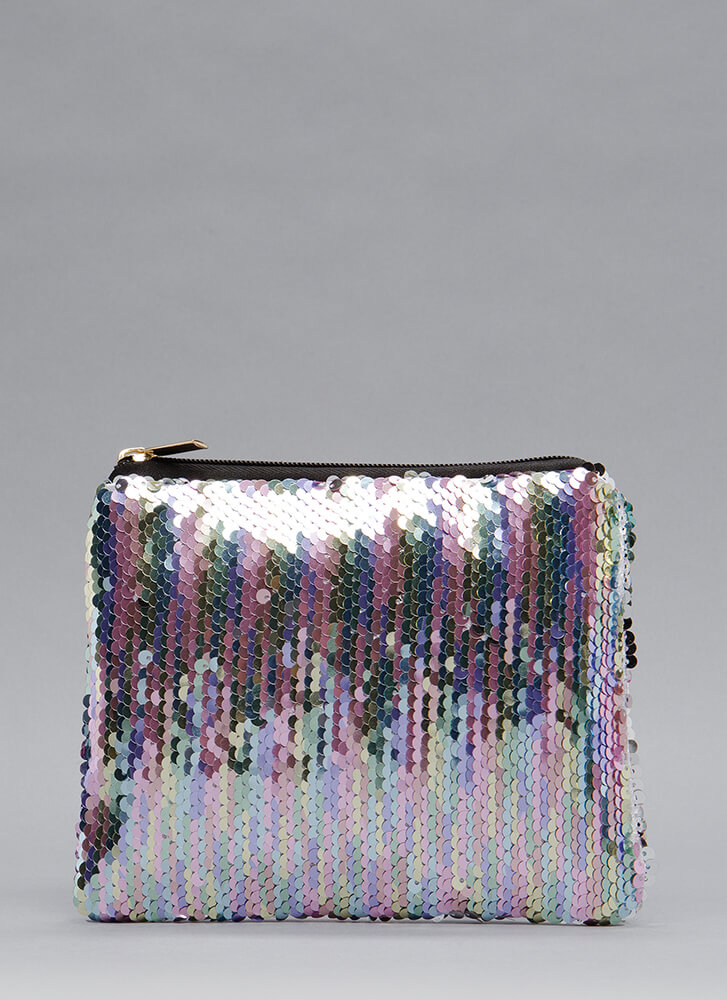 Catch The Light Sequined Clutch MULTI