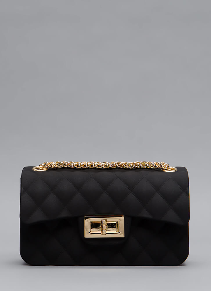 The Real Deal Quilted Jelly Mini Bag BLACK