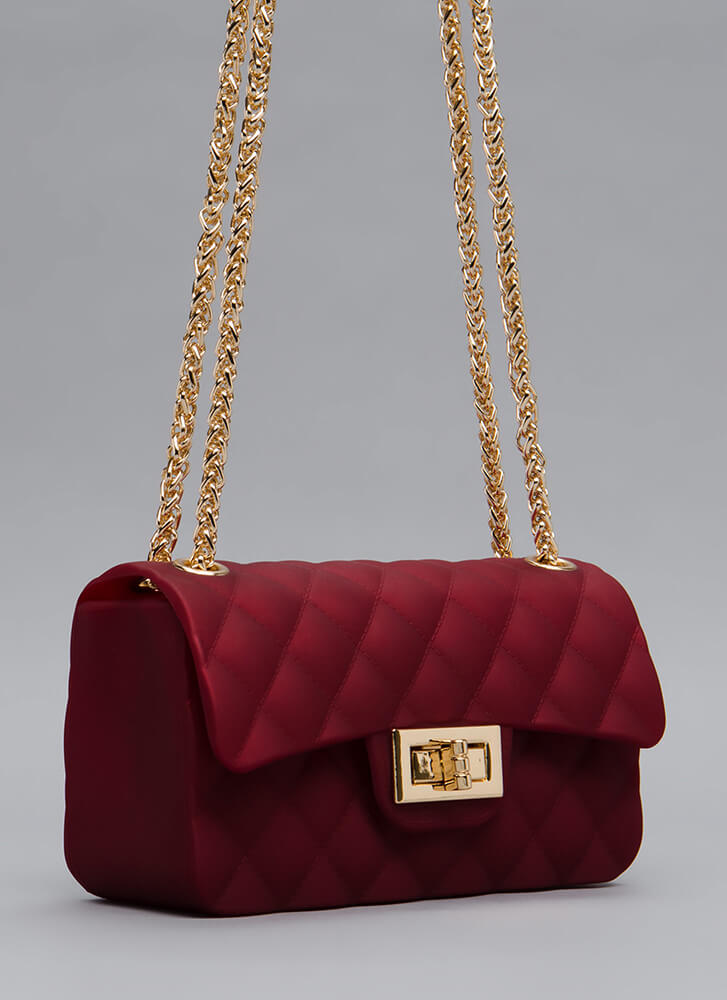 The Real Deal Quilted Jelly Mini Bag RED