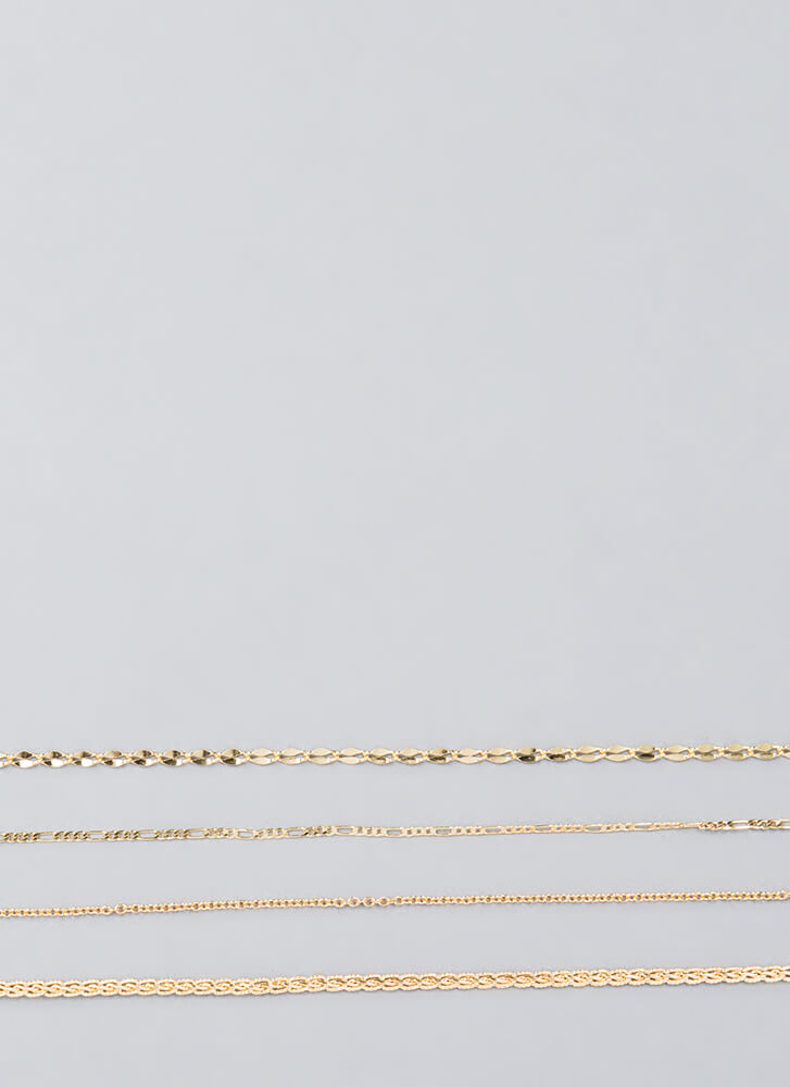 Four Your Own Good Chain Choker Set GOLD (Final Sale)