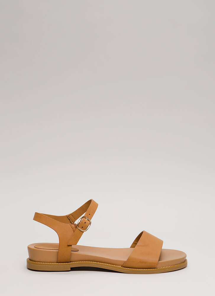 Reign Supreme Strappy Studded Sandals NATURAL