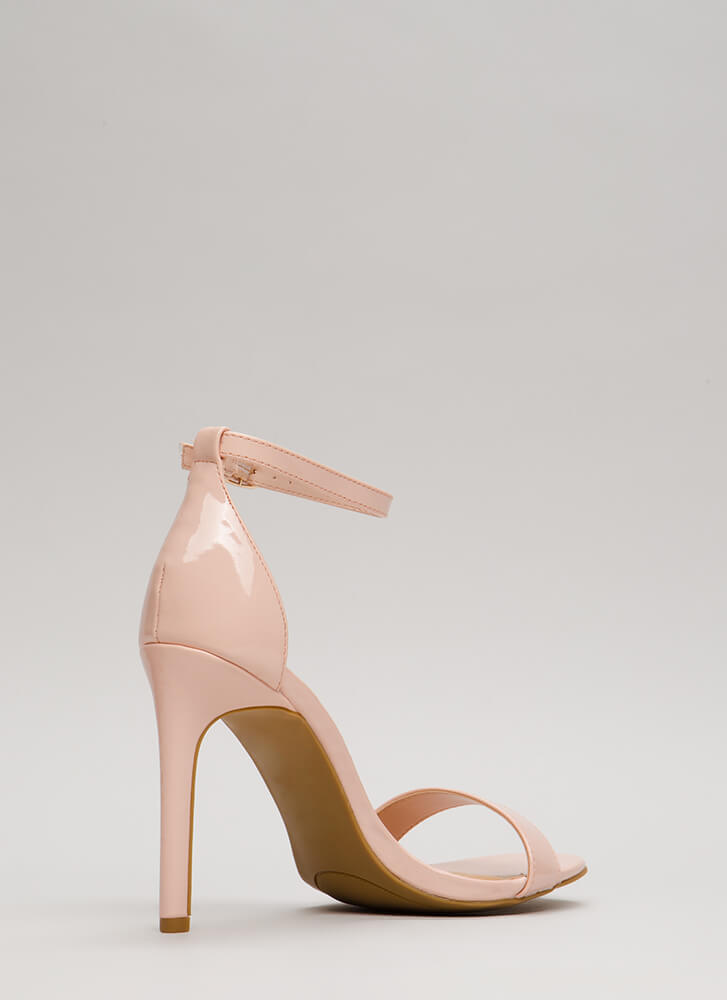 Simply Timeless Faux Patent Heels BLUSH
