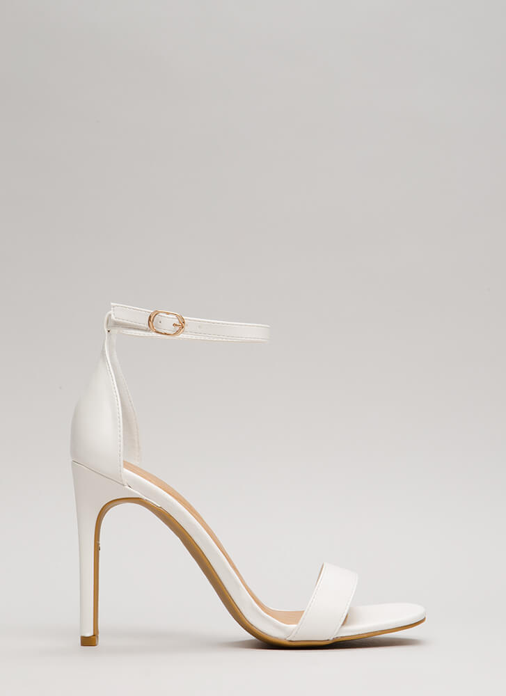 Simply Timeless Faux Leather Heels WHITE