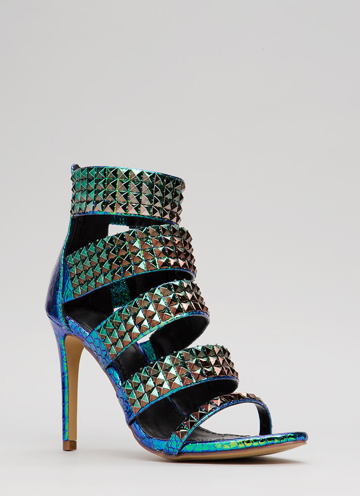 Night In Shining Armor Strappy Heels GREEN