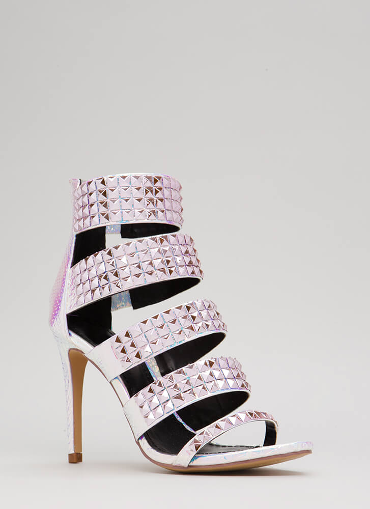 Night In Shining Armor Strappy Heels PINK