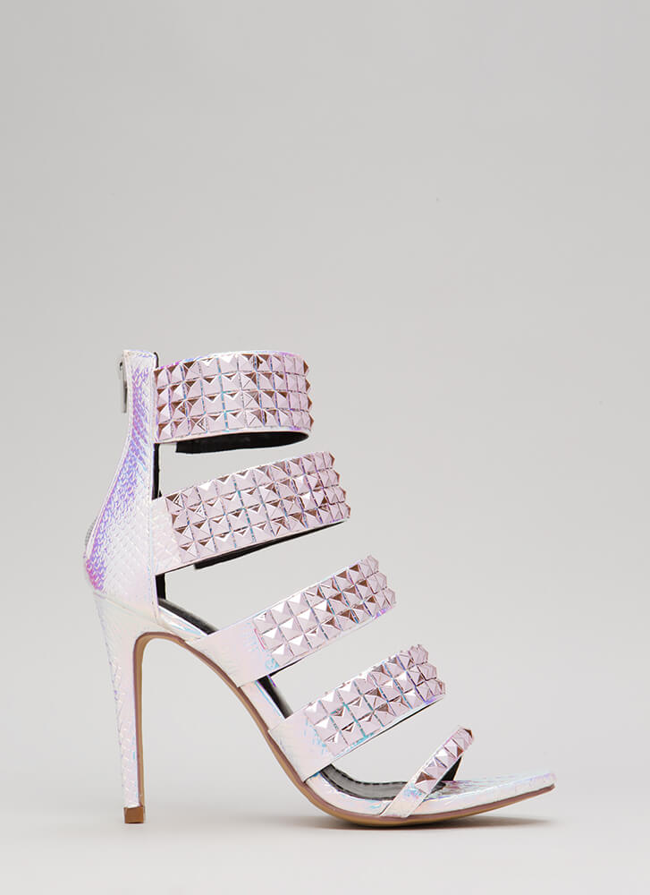 Night In Shining Armor Strappy Heels PINK (Final Sale)